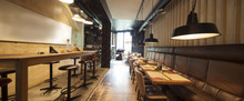 Seamless Panorama Of Restauran...