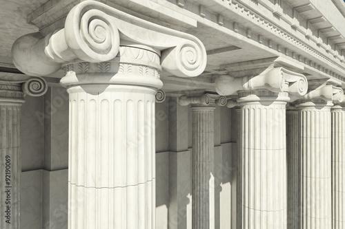 Fotografie, Obraz  Columns. ionic order.