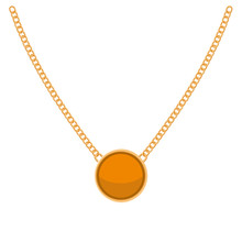 Golden Chain With Gold Blank P...