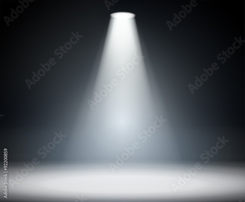 Fotobehang Licht, schaduw Dark background with spotlight.