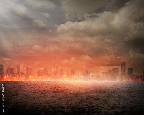 Fotografia Burning city