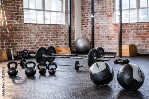 Exercise equipment in the studio