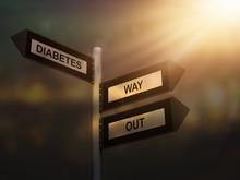 Diabetes Way Out Problem Sign....