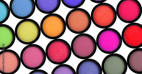 Obraz many eyeshadows on white background - fototapety do salonu