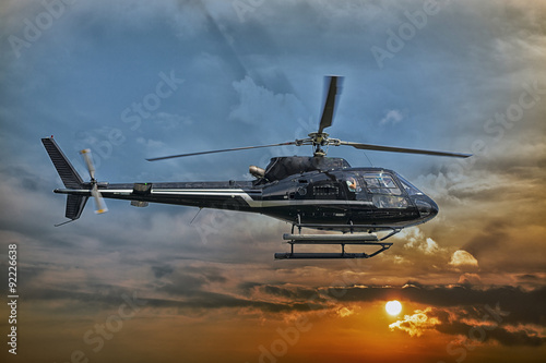 plakat Helicopter for sightseeing