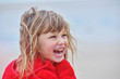 Leinwandbild Motiv bonheur sur la plage en automne