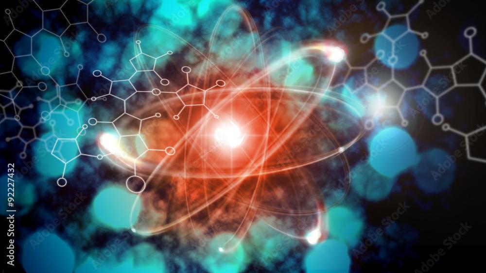 Fototapeta Atom Particle