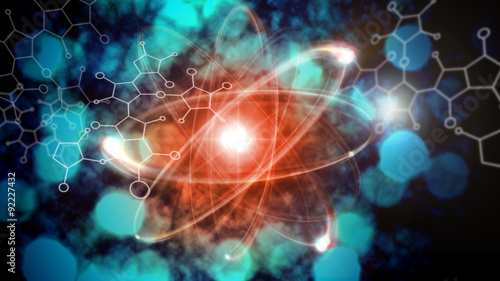 Atom Particle Canvas Print