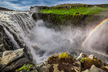 Spectacular Dettifoss Waterfall In Iceland