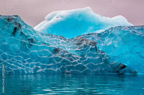 Printed kitchen splashbacks Glaciers Blue iceberg in cold lake, Iceland