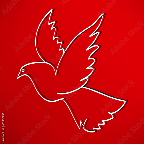 Poster dove of peace