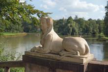 Sphinx Statue Im Park Schoenbusch Bei Aschaffenburg
