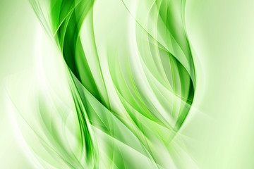Abstract Floral Green Background Design