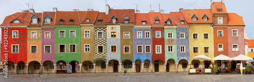 Wall Murals Eastern Europe crooked medieval houses , Poznan, Poland