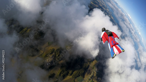 Foto op Canvas Luchtsport Wingsuiting in Norway