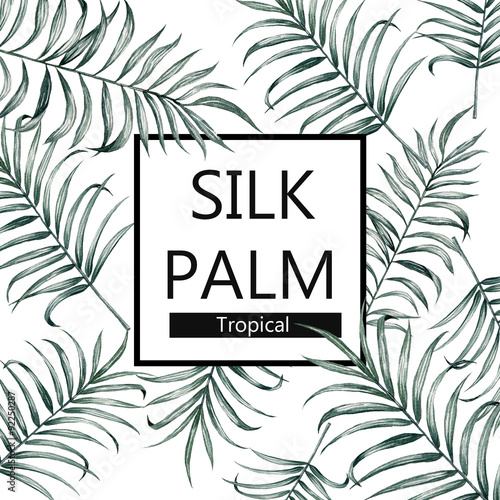 Αφίσα  vintage silk palm watercolor poster advertisement trend fashion