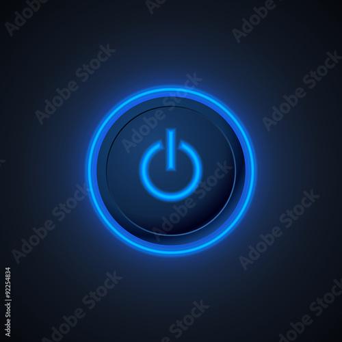 Poster  Blauer Ein- / Ausschalter