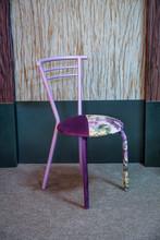 Purple Floral Chair