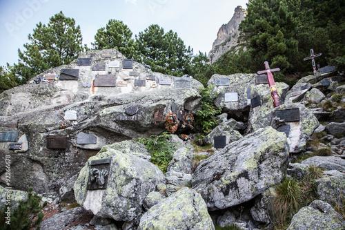 Fotografía  Symbolic cemetery in High Tatras, Slovakia