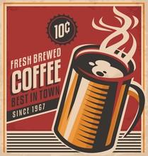 Retro Coffee Vector Poster