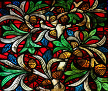 Stained Glass In Leon Cathedral