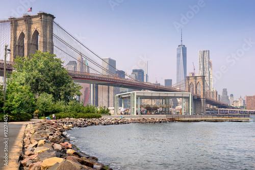 Recess Fitting Brooklyn Bridge Brooklyn Park under the Manhattan Bridge