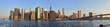 Manhattan sunrise panorama