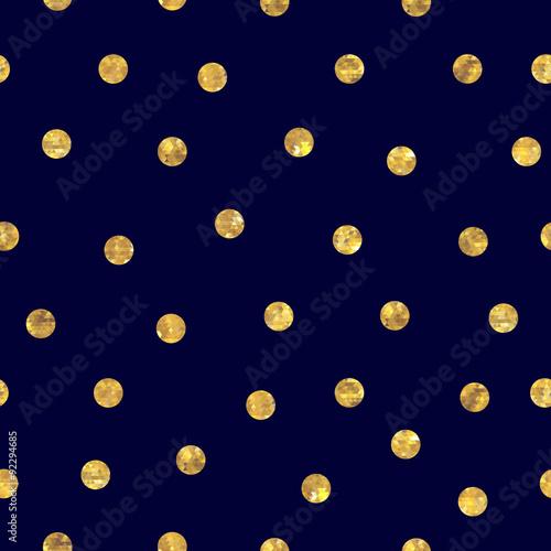 bezszwowy-polka-dot-zloty-wzor
