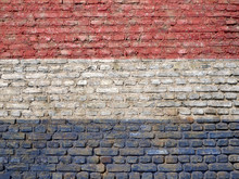 Nederlands' Flag Painted On A Wall