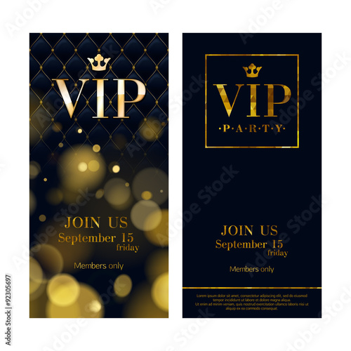Fotografía  VIP invitation cards premium design templates.
