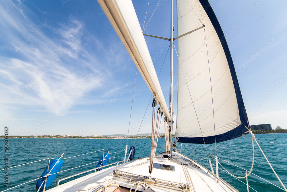 Photo  Yatch sail and desk