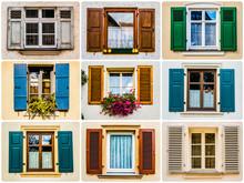Fensterläden Vielfalt