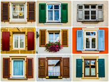 Viele Traditionelle Fensterläden