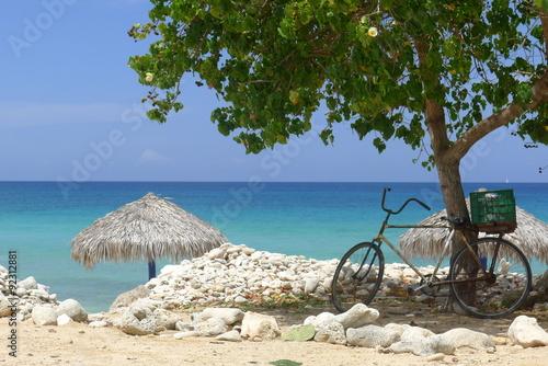 Fahrrad am Strand Canvas Print