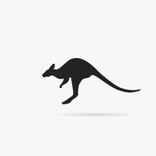Silhouette Of A Kangaroo.