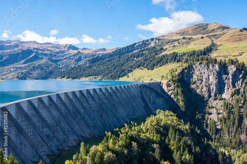 Canvas Prints Dam Lac et barrage de Roselend