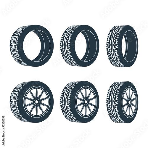 Fotografia rubber wheel tire rim drive car