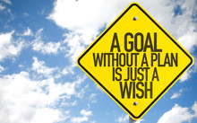 A Goal Without A Plan Is Just A Wish Sign With Sky Background