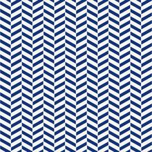 Seamless Porcelain Indigo Blue And White Herringbone Pattern Vector