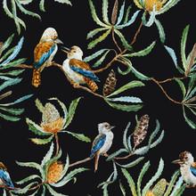 Australian Kookaburra Bird Pattern