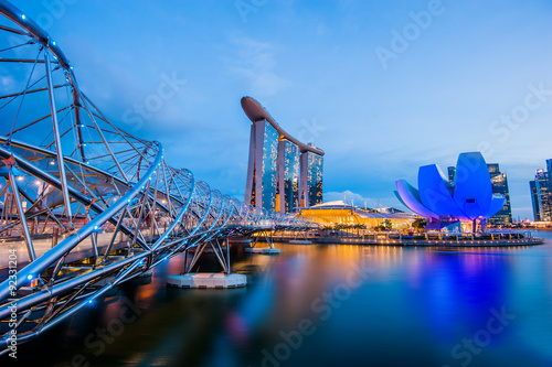 Photo  Helix Bridge singapore travel landmark