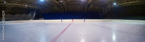 empty ice rink, hockey arena Canvas Print