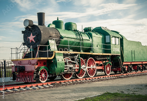 fototapeta na drzwi i meble old steam locomotives of the 20th century