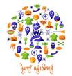 Set of Happy Halloween icons