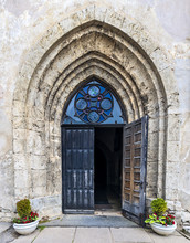 Entrance To The Medieval Churc...