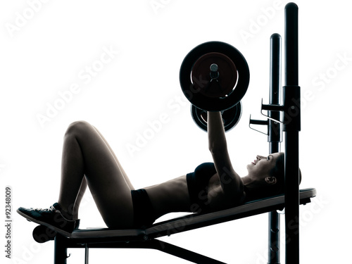 body buiding woman isolated
