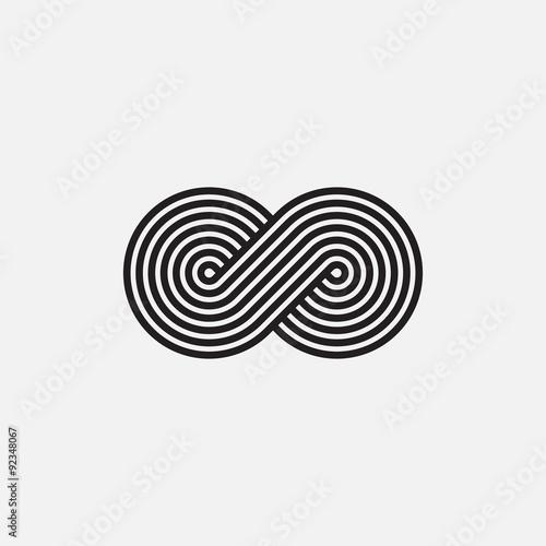 Fotografia  Infinity symbol, un-expanded strokes, vector illustration
