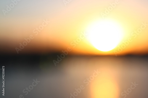 obraz dibond abstract blurred background with scenic bokeh view and blurred sunset . ready for typography