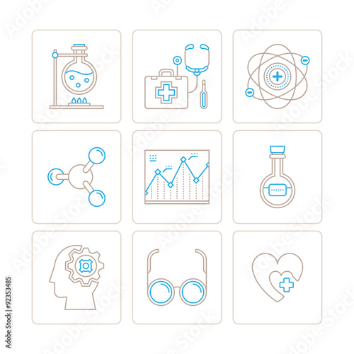 Set Of Vector Medical Icons And Concepts In Mono Thin Line Style