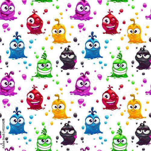 smieszne-kolorowe-galaretkowe-stwory-na-bialym-tle